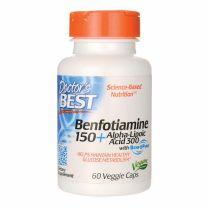 Doctors Best Benfotiamine 150 Alpha-Lipoic Acid 300