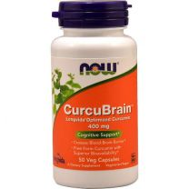 NOW Foods CurcuBrain 400mg