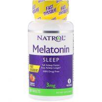 Natrol Melatonin Fast Dissolve Strawberry Flavor 3 mg