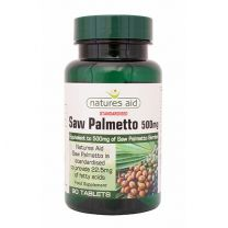 Natures Aid Saw Palmetto 500mg