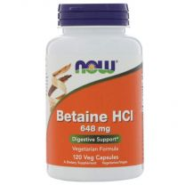 NOW Foods Betaine HCL 648 mg