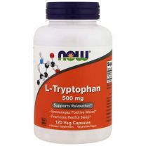 L-tryptofaan 500 mg 120 veg capsules now foods