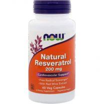 natural resveratrol 200 mg now foods